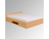 Futonbett in Buchefarben mit Schubladen