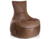Sitzsack in Velourslederoptik Sesselform