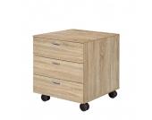 Work Rollcontainer - 3 Schubladen - Eiche Dekor, Arte M