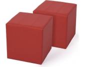 heute-wohnen 2x Sitzhocker Paris Sitzwürfel Hocker, Kunstleder, 40x38x38 cm